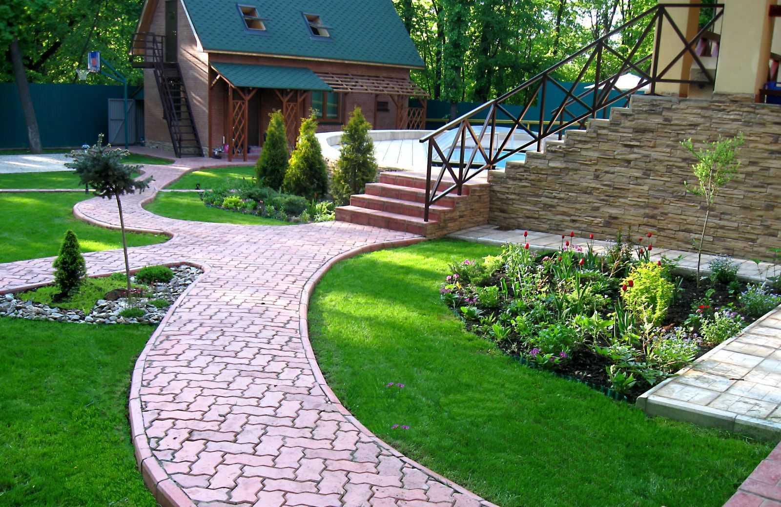 Дворики фото - 420 тыс, дизайн внутреннего дворика частного дома и дачи, идеи интерьера