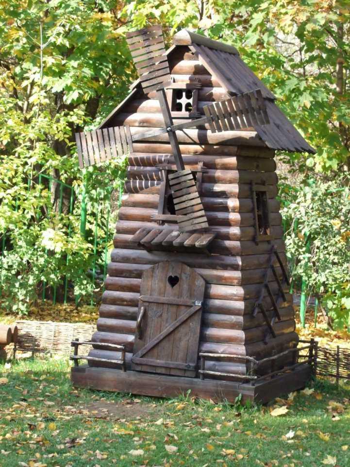 мельница на пне для сада фото приведен список