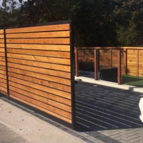 Откатные ворота своими руками: проекты, конструкции, чертежи, фото и видео описание постройки (135 фото)